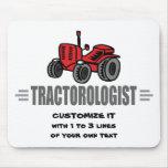 Amor divertido del tractor tapetes de raton