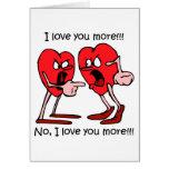 Amor divertido tarjetas