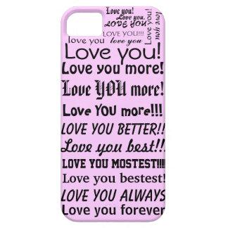 Amor divertido usted le ama un texto más gráfico funda para iPhone SE/5/5s