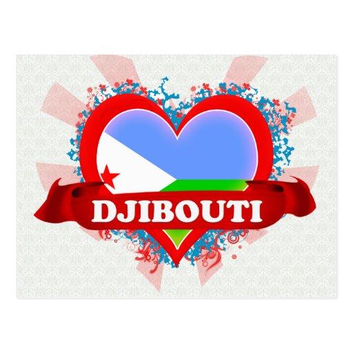 Amor Djibouti del vintage I Postal