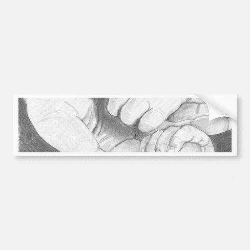 Amor doble etiqueta de parachoque