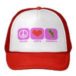 Amor Dominica de la paz Gorras De Camionero