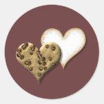 Amor dulce de la galleta pegatinas redondas