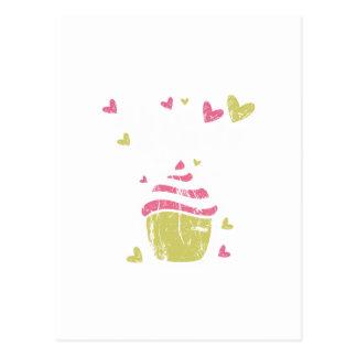 Amor dulce del bocado de los postres de la comida tarjeta postal