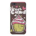 Amor dulce del bocado de los postres del caramelo  iPhone 5 coberturas