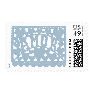 Amor - Dusty Blue Postage Stamp