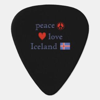 Amor e Islandia de la paz Púa De Guitarra
