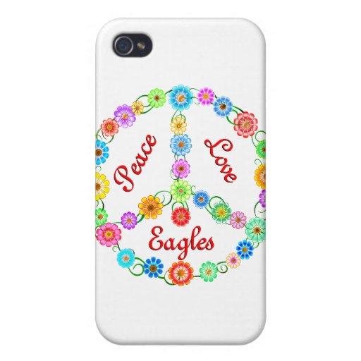 Amor Eagles de la paz iPhone 4 Fundas