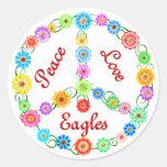 Amor Eagles de la paz Pegatina Redonda