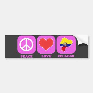 Amor Ecuador de la paz Pegatina Para Auto
