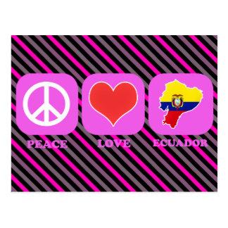 Amor Ecuador de la paz Tarjeta Postal