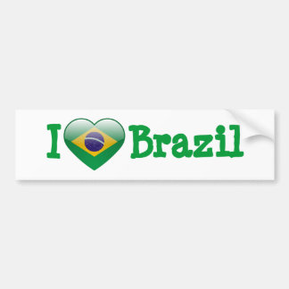 Amor el Brasil Pegatina De Parachoque