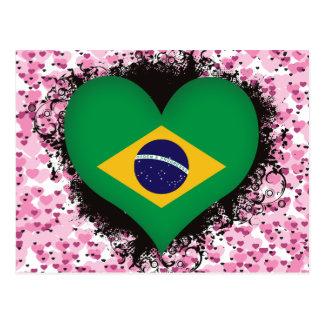 Amor el Brasil del vintage I Postal