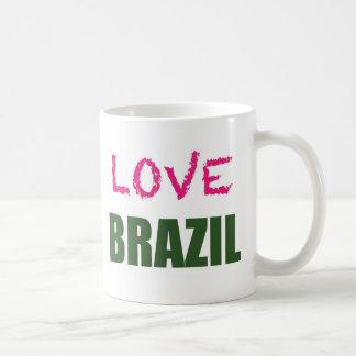 Amor el Brasil Tazas
