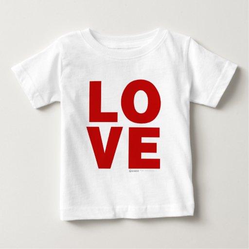 Amor - el día de San Valentín adora el romance del Playera De Bebé