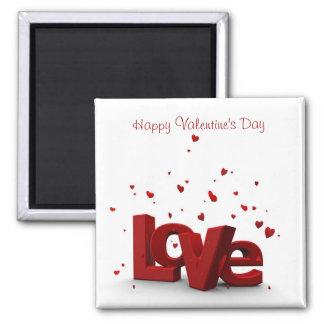 Amor - el día de San Valentín feliz Imán Cuadrado