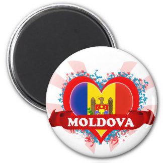 Amor el Moldavia del vintage I Imán Redondo 5 Cm