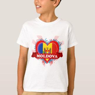 Amor el Moldavia del vintage I Playera