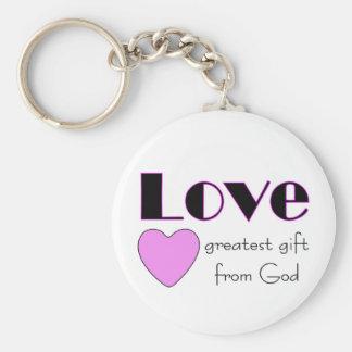 Amor, el regalo más grande de dios llavero redondo tipo pin