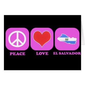 Amor El Salvador de la paz Tarjeta