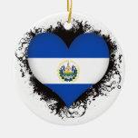 Amor El Salvador del vintage I Adorno Navideño Redondo De Cerámica