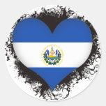 Amor El Salvador del vintage I Pegatina Redonda