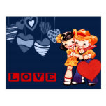 Amor. El vintage embroma las postales del el día