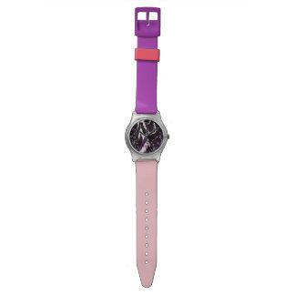 Amor elegante de la paz del modelo del rosa relojes de pulsera