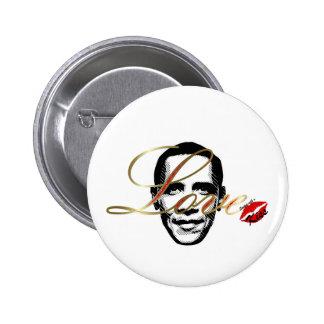 amor elegante Obama Pins