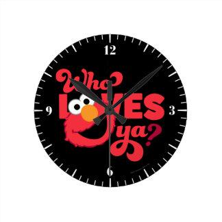 Amor Elmo Reloj Redondo Mediano