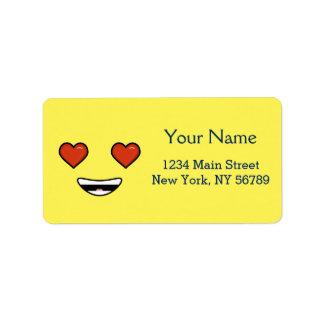 Amor Emoji Etiqueta De Dirección