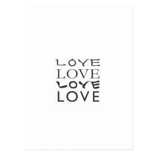 Amor en alfabeto coreano e inglés postal