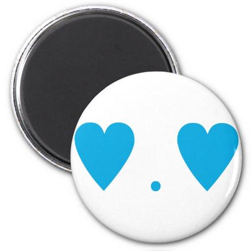 Amor en azul claro imanes