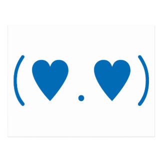 Amor en azul marino postal