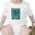 Amor en cada bebé del corazón traje de bebé