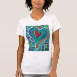Amor en cada corazón T para mujer Camiseta