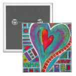 Amor en cada Pin del arte del corazón