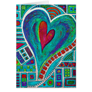 Amor en cada tarjeta de nota del corazón