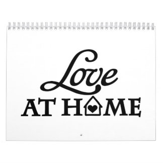 Amor en casa calendario de pared