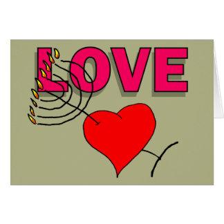 Amor en Chanukah 101 Tarjeta De Felicitación