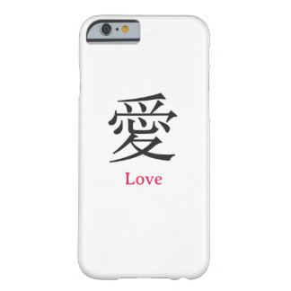 Amor en chino funda de iPhone 6 barely there