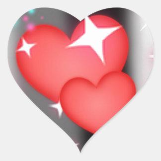 Amor en el cielo pegatina en forma de corazón