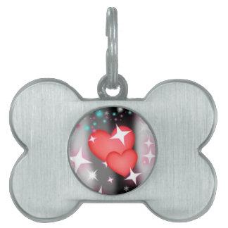 Amor en el cielo placas de mascota