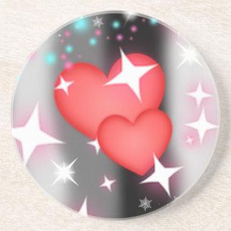 Amor en el cielo posavasos de arenisca