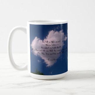 Amor en el cielo tazas de café