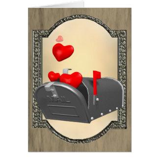 Amor en el correo tarjeta de felicitación