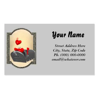 Amor en el correo tarjetas de visita