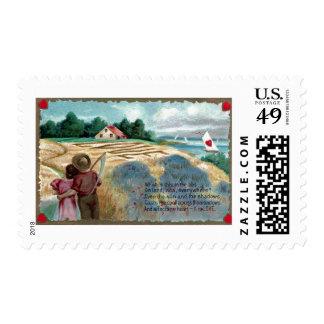 Amor en el heno timbres postales
