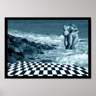 Amor en el poster de la playa
