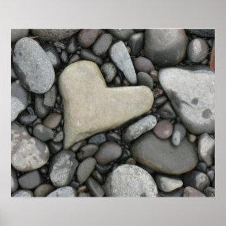 Amor en el poster de las rocas póster